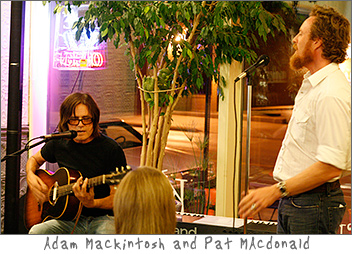 Adam Mackintosh and Pat MAcdonald at Kavarna Green Bay, WI