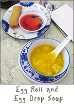 Egg Drop Soup and Egg Roll at Chef Chu's Green Bay, Wisconsin