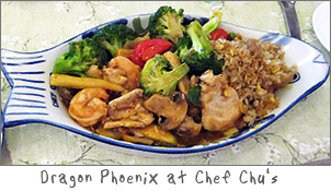 Dragon Phoenix at Chef Chu's in Green Bay, Wisconsin