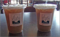 Iced Lattes at Crystal Coffee in Green Bay, WI