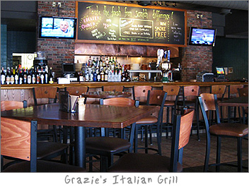 Interior of Grazies Green Bay, WI