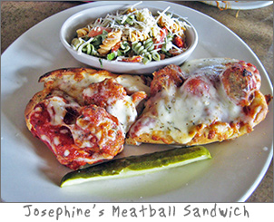 Meatball Sandwich at Josephine's in Green Bay, WI