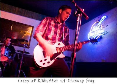 Corey of Kildrifter Live at Crunchy Frog in Green Bay, Wisconsin