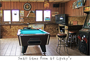 Game Room at Lipsky's in Dyckesville, Wi