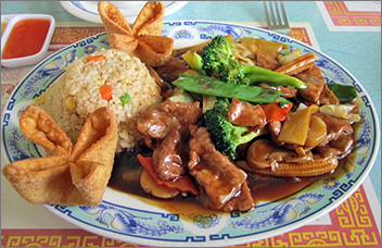 Chinese Food At Mandarin Garden In Green Bay, WI