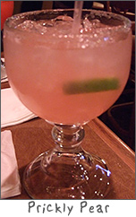 Prickly Pear Margarita at Margaritas in Green Bay, WI