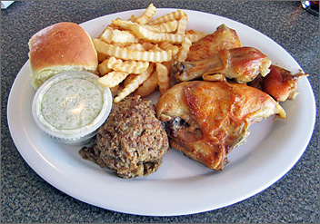 Chicken Plate at the Rite Place in Green Bay, WI