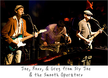 Joe, Ross, and Greg from Sly Joe and the Smooth Operators Live in Green Bay