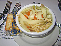 Chicken Noodle Soup at Wally's Spot in Green Bay, WI