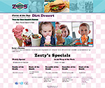 Cheap Web Design in Green Bay, Wisconsin for Restaurant Bars and Clubs - Zesty's Frozen Custard
