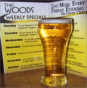 Tapper & Specials at Woods Golf in Green Bay, WI