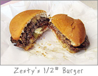 Burger at Zesty's Green Bay, WI