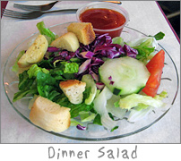 Dinner Salad at Ziggy's Green Bay, WI